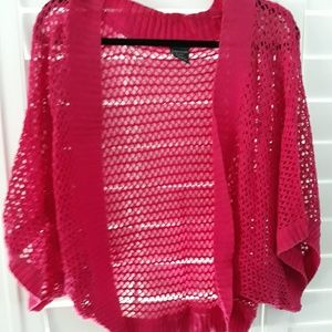 GORGEOUS Hot Pink Shrug, plus size XL/18